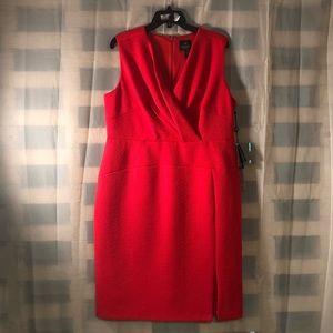 Adrianna Papell surplice sheath dress (plus size)